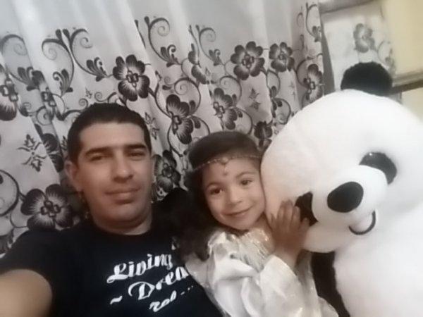 Avec ma fille Hiba