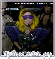 """. Récapitulatif des MTV Europe Music Awards 2010 : . Hier soir, le 7 Novembre, avait lieu les MTV EMA 2010 à Madrid en Espagne auquel Lady Gaga était nominées dans 5 catégories. Sur ces 5 nominations, Gaga a remporté 3 trophés soit pour la meilleure chanson avec « Bad Romance », la meilleure artiste pop avec « Alejandro » ainsi que la meilleure artistes féminine ! Par contre, Gaga n'était pas présente à la cérémonie puisqu'elle avait un spectacle à Budapest, en Hongrie. Cependant, elle laissait un message vidéo en direct de son spectacle chaque fois qu'elle remportait un prix. Bravo """"Mother Monster"""" ! Pour voir ces vidéos, cliquez sur les images ci-dessous.  ."""