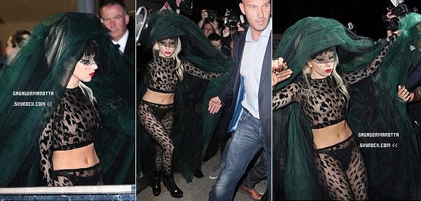 . 12/05/2011 : Lady Gaga arrivant aux studios ITV pour l'émission « Graham Norton Show » à Londres.