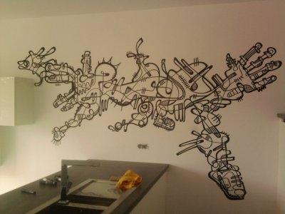 fresque à domicile