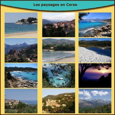 Paysage de la Corse.