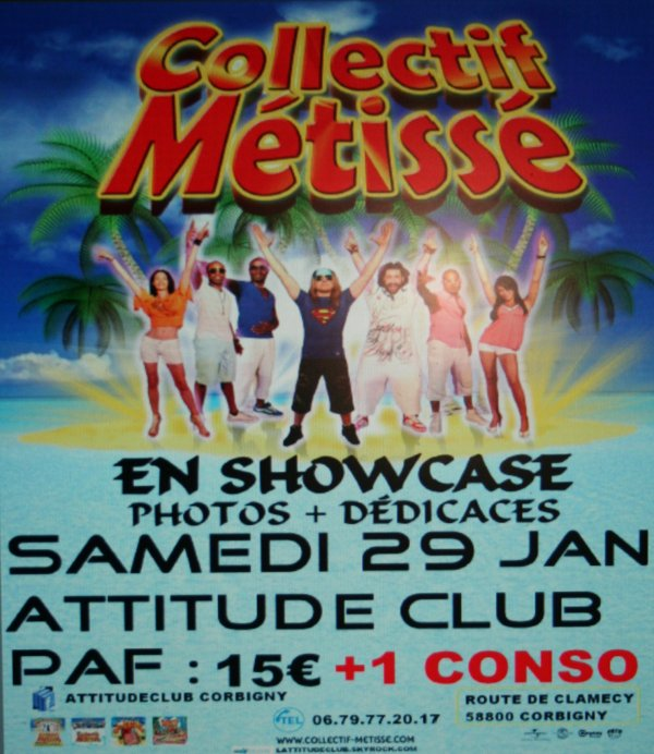 LE COLLECTIF METISSE EN SHOWCASE  LE 29 JENVIER