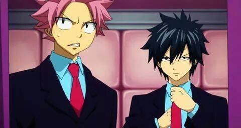 Natsu et Grey en Hibiki .... comment dire .......