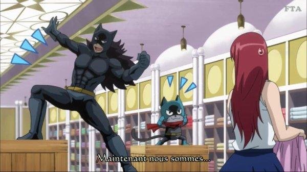 Gajeel et Lily en Batman XD