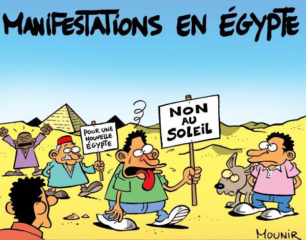La température monte en Egypte
