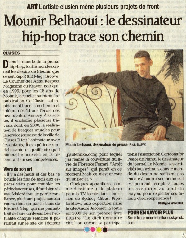 Article de Mounir paru dans le Dauphiné du 14 Mars 2012