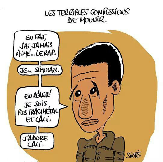 Caricature de Mounir Belhaoui vue par Eric Sintès