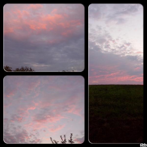 Un coucher de soleil en Dordogne!