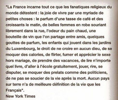 La France incarne tous ce que les fanatiques religieux detestent !