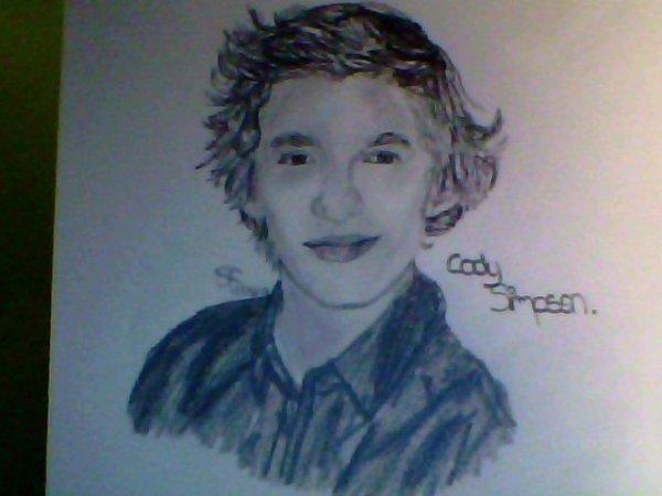 Dessin n°1 : Cody Simpson.