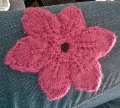 fleur au tricot