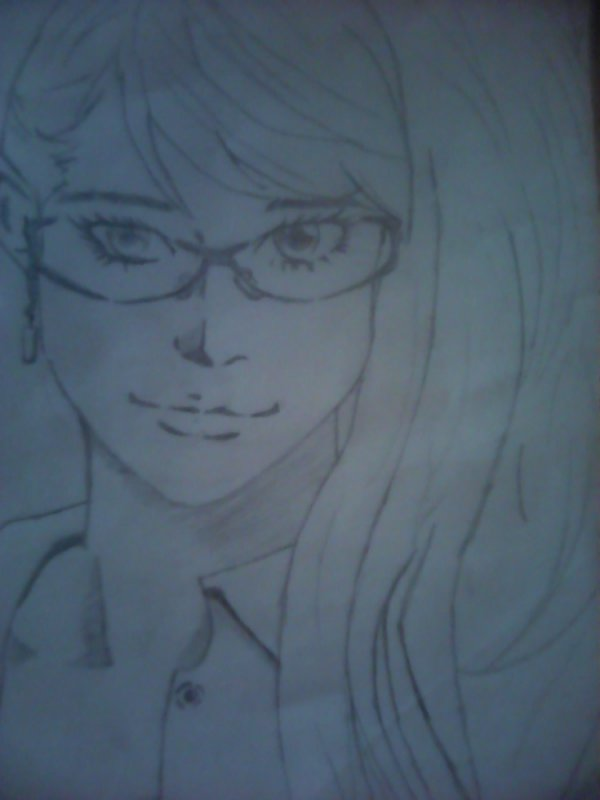 Voilà un de  mes 60 dessins manga que j'ai dans mon classeur