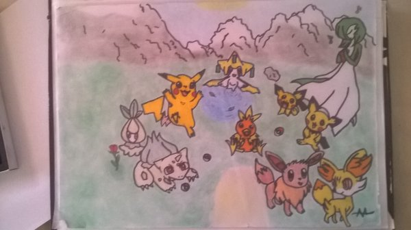 dessin Pokémon enfin terminé ^w^