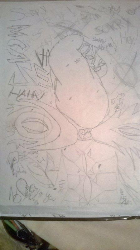 plus fou je ne cannais pas je ne sais même pas pourquoi j'ai dessiné sa