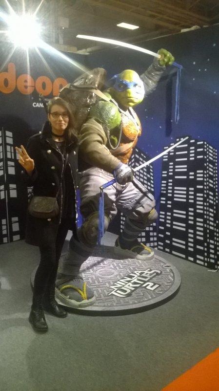 tortue ninja !! sa sens la fille mal a laise mdr