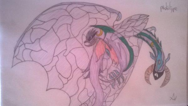 un insecte et se forme dragon ♦
