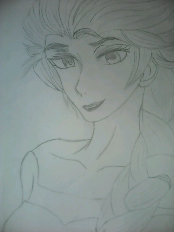 J'ai dessiné la reine des neiges XD