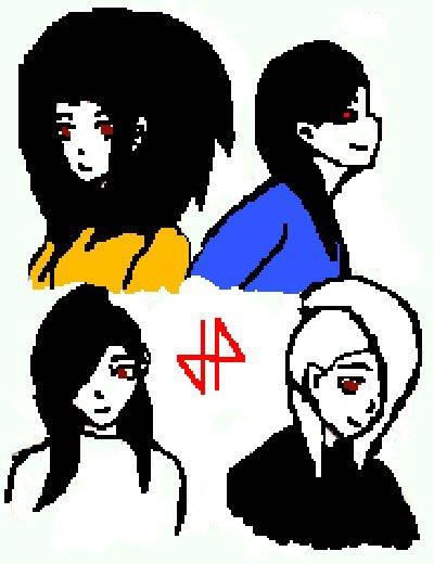 Nemesis strange , Karasu kuro , saphir killer et hina ayame