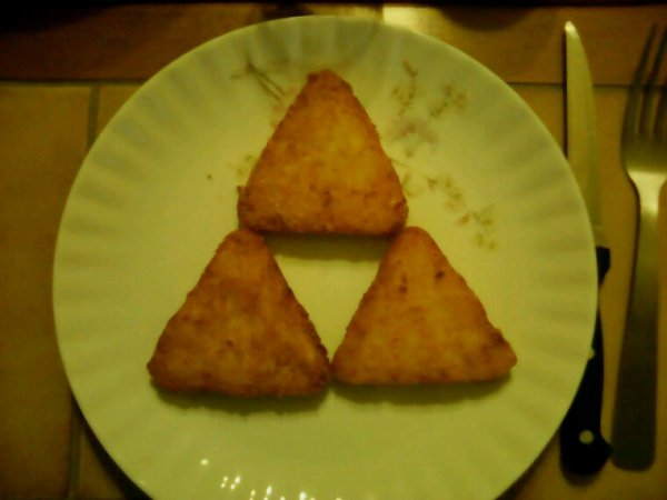 La Triforce dans mon assiette mdr