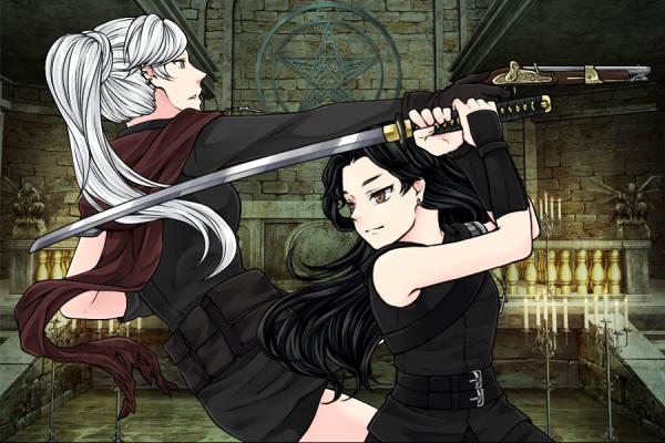 Hina Ayame et Saphir Killer adultes
