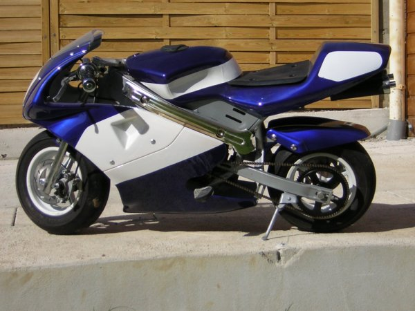 POCKET BIKE BLEU/BLANC