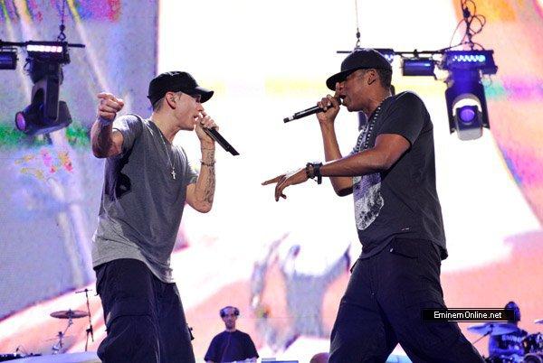 Eminem diffusera un de ses concerts avec Jay-Z