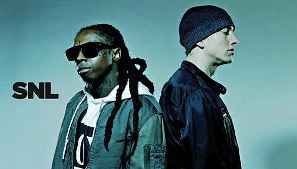 """Eminem et Lil Wayne s'affrontent live à SNL pour """"No Love"""" (vidéo)"""