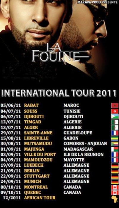 Tourne 2011 de La Fouine