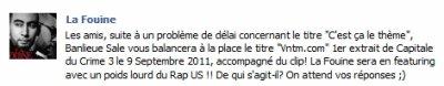 La Fouine change de single pour le 9/09 et annonce un gros feat US !