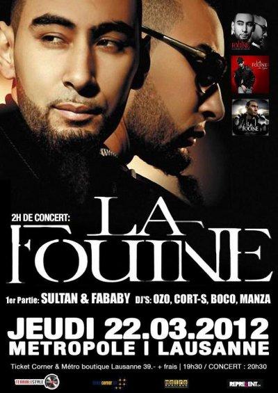 La Fouine sera en concert  le 22 mars
