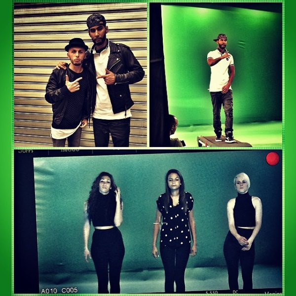 La Fouine sur le tournage du clip 1.2.3 avec Sindy