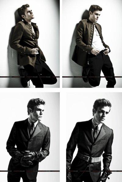 Toujours aussi beau, nous découvrons les nouvelles photos de Paul Wesley alias Stefan Salvatore. ©