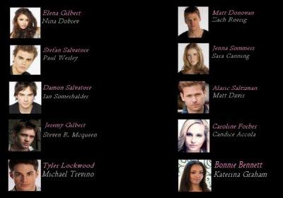 OfficialxVampirexDiaries te présente les personnages principaux& les autres. ©