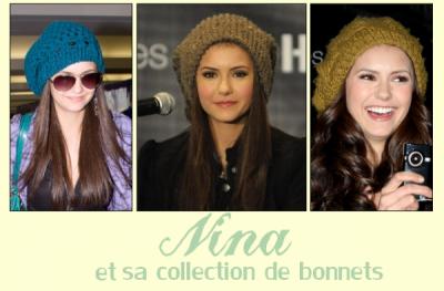 Nina fidèle à ses chapeaux.