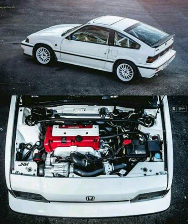 Crx 1g swap k24 supercharger 350cv