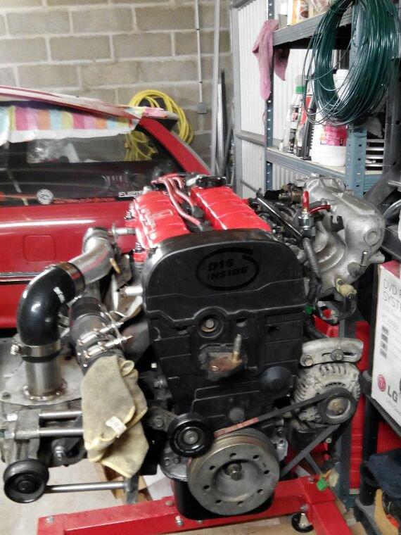 Bientôt le remontage du moteur dans la civic... #rebuild #optimisation #d16a9 #compresseur #eaton #furtifauto