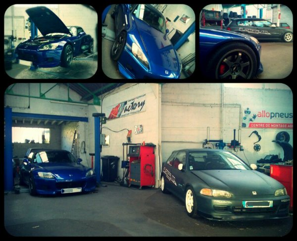 Blue S2000 & Eg5 circuit Garage Furtifauto