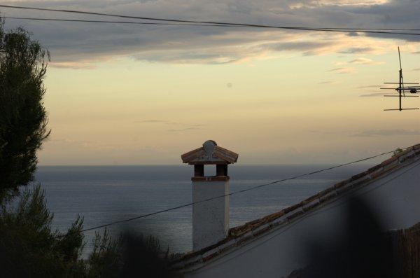 Coucher de soleil sur Chilches (Andalousie)