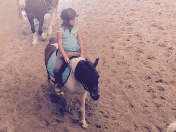 mon cour de poney avec Nougat!
