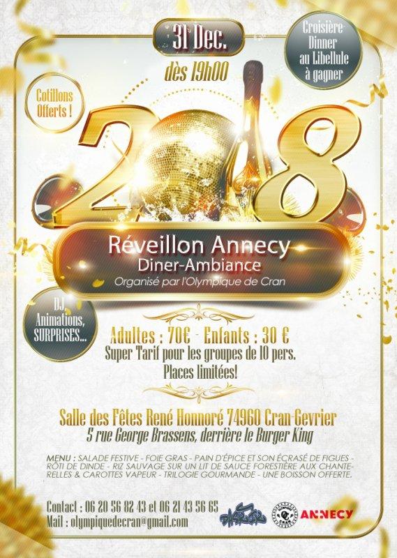 RÉVEILLON AMBIANCE ANNECY 2018 (DÎNER HALAL)