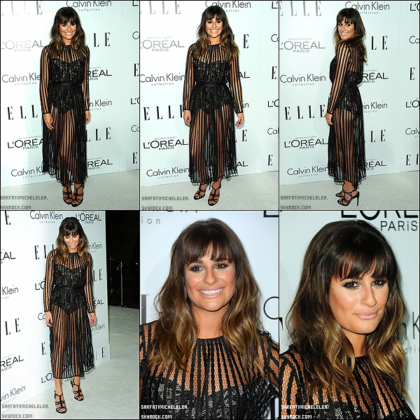 .  15/10/2012 Miss Michele était a l'évènement ELLE's 19th Annual Women In Hollywood Celebration - Inside . Coté Tenue : C'est un TOP pour sa coiffure et sa robe . BOF pour le make-up !  .