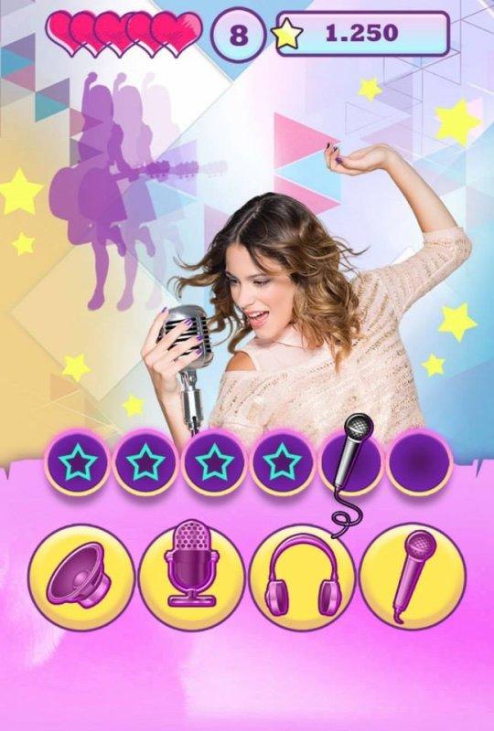 l'appli Violetta Music Adventure est  disponible sur App Store et Google Play!! Mais sur App Store coûte 3,59¤... Dommage :( et sur Google Play?