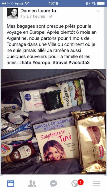 Le tournage de Violetta 3 va continuer et va en Europe!! Confirmé par Damien Lauretta ;) On ne sait mas dans quel ville mais en tout Damien a l'air excité! On verra :D