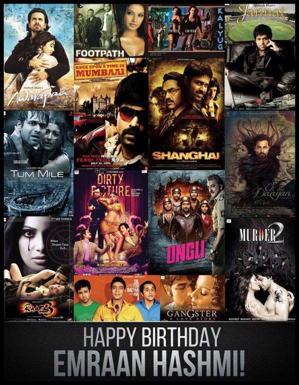 Happy Birthday Emraan Hashmi!  Wishing you a year full of success & happiness...  -Team Emraan