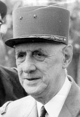 GENERAL CHARLES DE GAULLE  ( 18e président )
