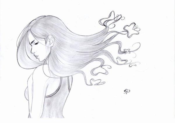Cheveux Papillon Blog Dessin De Zeldana