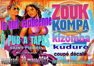 SOIREE CARIBEENNE ZOUK LE 30 MARS 2012