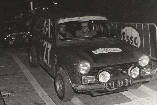 srt cormeilles * Jacky pilote et michel navigateur rallye des Lucioles Aillant sur Tholon et Criterium route de nuit 1973