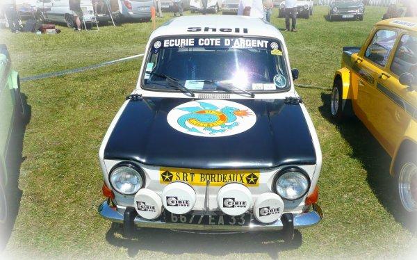 srt cormeilles * srt dijon * srt Bordeaux * retrouver un pilote de Rallye2 en rallye avec son auto d'origine avec ses phares et ses stickers SRT
