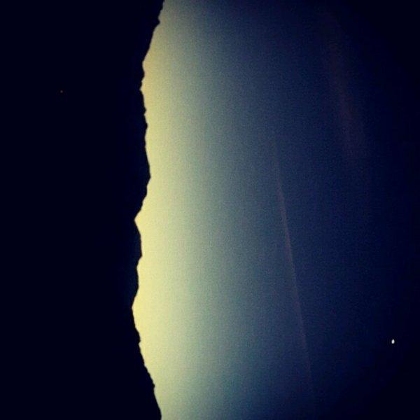 Les montagnes Corse le soir